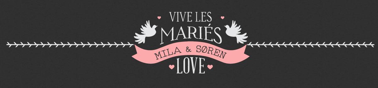 Faire-part, invitation, menu de mariage…