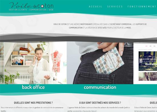 création de site internet pour voile de coton, service clients indépendant pour le prêt à porter