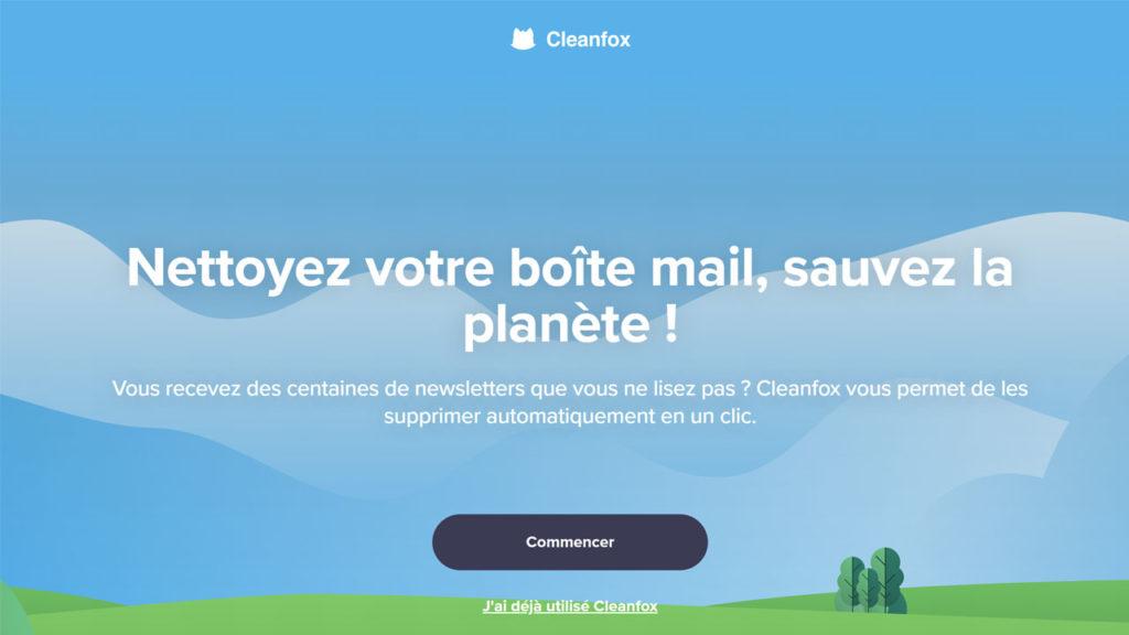 Cleanfox pour nettoyer votre boite email et faire de la place pour les emails importants