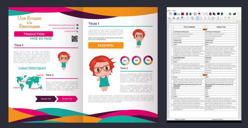 intégration et mise en page de traduction dans les documents professionnels