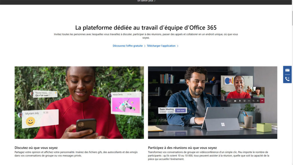 Avec Microsoft Teams invitez toutes les personnes avec lesquelles vous travaillez à discuter, participer à des réunions, passer des appels et collaborer en un endroit unique