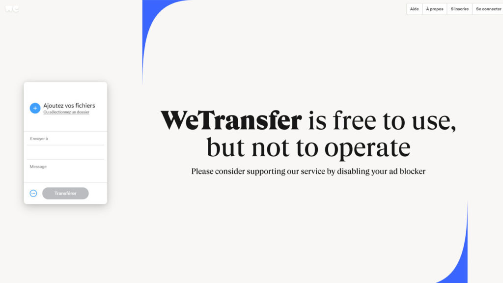 WeTransfer est un service de transfert de fichier jusqu'à 2Go gratuitement